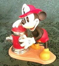 """WDCC MICKEY MOUSE 5"""" Tall """"FIREMAN to the RESCUE"""" Mickey's Fire Brigade (NIB)"""