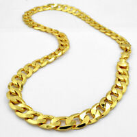 CADENA CUBANA GOLD FILLED 18K 12MM X 55CM