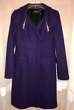 New NWT Nanette Lepore Astronomer Coats Aquarius Coat, Purle, Size 4, MSRP $598