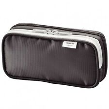 LIHIT LAB Double Pen Case S Black A-7660-24