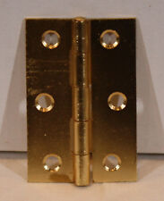 """25 Pair Lot of 50 1-15//16/"""" x 1-7//16/"""" Brass Plated Decorative Hinges"""