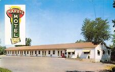Des Moines IA Harris Motel~Hubbell Blvd~Big Sign in the Air~Private Phone 1950s