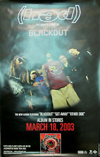 (hed) Planet Earth - Blackout, original Jive promotional poster, 2003, 11x17, Ex