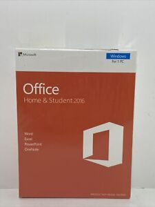 Microsoft Office Home and Student 2016 English Product Key No Disc NEW! Sealed!