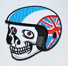 Skull,Patch,Cafe Racer,Vintage,Aufnäher,Aufbügler,Triumph,Norton,BSA,England