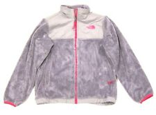 Girls The North Face Denali Thermal Fleece Jacket  Metallic Silver Pink L 14 16