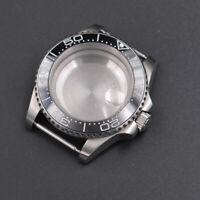 41mm black ceramic bezel sapphire cystal Watch Case fit ETA 2824/2836 movement