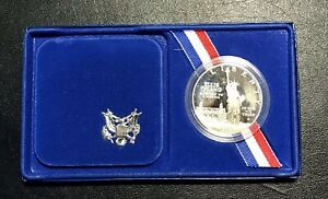 1986-S Proof Liberty Silver Dollar with Case, Box & COA
