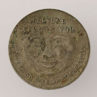 Safe Driver Token - Silver Toned Safety Zone Medal Coin As Is