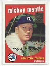 Mickey Mantle 1996 Topps Reprint Card #9 1959 Topps