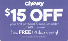 ⚡Immediate Delivery⚡ CHEWY.com — $15 OFF $49 Order Promo Code Coupon — Exp. 8/31