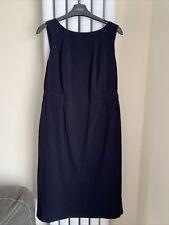 Neuf Marks /& Spencer m/&s Bleu Marine Pois Longueur Genou Robe Swing Taille 12 /& 14