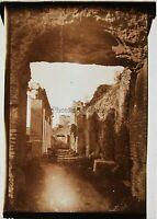Italia Roma Archeologia Ruines Antiche Foto Placca da Lente Vintage c1915