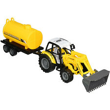 Farm Tractor Truck Realistic Plastic Farmer Trailer Car Vehicle Toys Kids Gifts