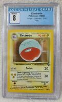 CGC Electrode Pokemon (1999) Jungle Unlimited 2/64 Holo Graded 8 NM/M