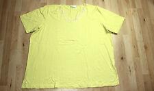 ULLA POPKEN lindgrünes Stretch Shirt Damen 54 56 Kurzarm Spitze Plus Size #5/2