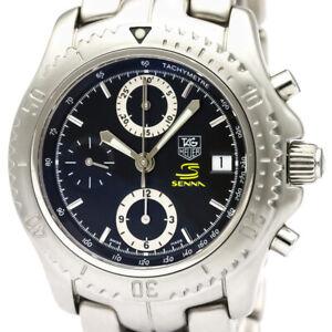 Polished TAG HEUER LINK Chronograph Ayrton Senna Limited Watch CT5114 BF337991