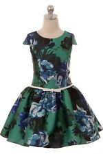 Royal Blue Flower Girls Floral Dress Pageant Wedding Party Christmas Easter 448