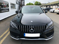 AMG C63 Panamericana Grille W205 C205 C CLASS MODS TO JUNE 2018 WITH 360 CAMERA