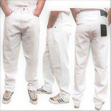 New Mens Designer Georgio Peviani G Denim True Star White Comfort Fit Jeans