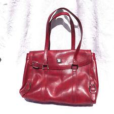 Diane Von Furstenberg DVF Leather Shoulder Bag Purse Lipstick Red Beautiful