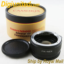 Camdiox Focal Reducer Speed Booster Pentax K mount PK lens to Sony NEX Adapter 7