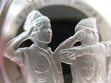 7/8 -OZ .STERLING FRANKLIN MINT SILVER OBEDIENT COIN BOY SCOUTS OF AMERICA +GOLD
