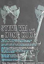 Steve Vai 2001 Hong Kong Concert Tour Poster -Guitarist