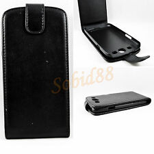Black Protective Pouch Leather Flip Cover Case For Samsung Galaxy S3 III i9300