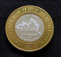 Black Oak Ten Dollar Gaming Casino Token Limited Edition .999 Silver