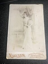 ANTIQUE SAN FRANCISCO CA CABINET CARD - ORNATE WOMAN HOLDING URN