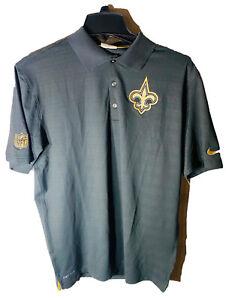 Nike NFL Onfield Apparel New Orleans Saints POLO Shirt MEDIUM