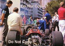 Bruce McLaren F1 retrato Monaco Grand Prix 1967 fotografía