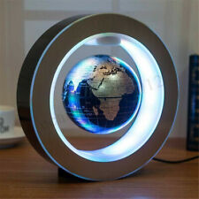 LED Floating Globe O Shape Levitation Ball World Map Rotating Magnetic gift deco