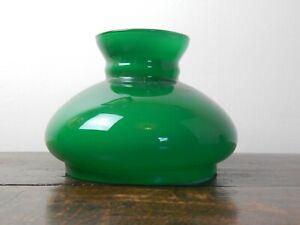 Vintage Green Vesta Oil Lamp Shade - 7& 1/4 inch Fit