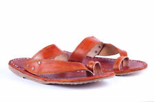 Mens slippers Leather mens sandals handmade shoes outdoor slippers flip flops