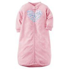 NWT Carter's Baby Girls Pink Fleece Sleep Sack 0-9 mos Winter Pajamas Infant Bag