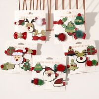 5 Pcs Hair Clip Christmas Deer Santa Clips Hair Pin Barrette Hairpin Accessories