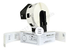 """48 Rolls DK 1218 Brother Compatible 1"""" Round Labels With 1 Reusable Cartridge"""