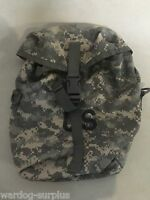 U.S Army Issue Sustainment Pouch ACU Camo Military Attach to ruck bag LBV Molle