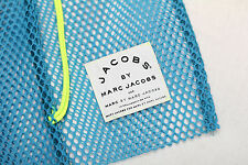 NEW Marc by Marc Jacobs Mesh Tote Drawstring Beach Bag Backpack - BLUE