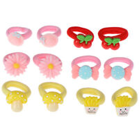 2Pc/set candy baby girl hair band elastic hair rope rubber band headwear ascc RR