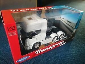 1:32 Scania 6x4 Welly Diecast Model Truck Lorry Wagon Toy
