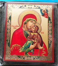 Russian wood icon St Anna  Ann Ani  w/child