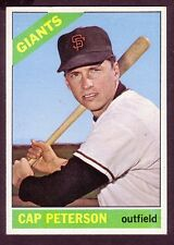 1966 TOPPS CAP PETERSON CARD NO:349 CP24 NEAR MINT CONDITION