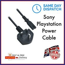 UK Power Cable Mains Cord Wire Lead Plug 3 Metre Sony PlayStation PS2 PS3 PS4 C7