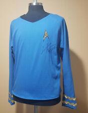 1970's Blue Star Trek Shirt signed by Todd Haberkorn