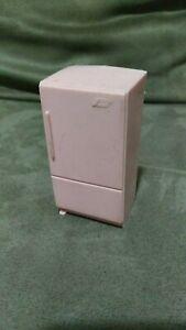 Vintage Dollhouse mini furniture kitchen refrigerator fridge pink mid century