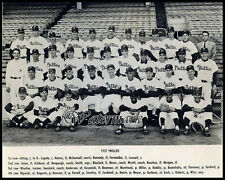 MLB 1957 Philadelphia Phillies Team Picture with Names 8 X 10 Photo Picture