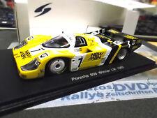 Porsche 956 L Le Mans winner 1985 Newman #7 Ludwig hiver spark résine 1:43